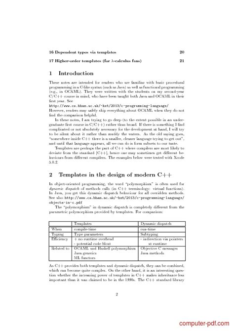 cpp template pdf an introduction to c template programming free