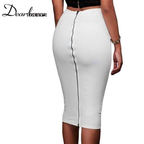 popular white pencil skirt buy cheap white pencil skirt
