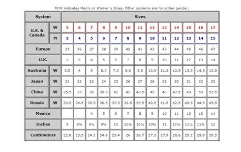 shoe size chart tory burch felicia nicole com size chart
