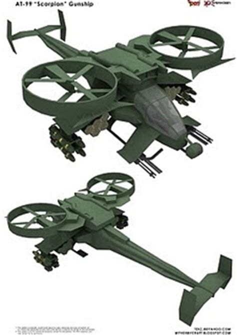 Avatar Papercraft - avatar papercraft at 99 scorpion gunship papercraft