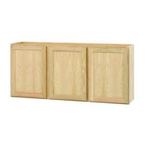 home depot cabinets unfinished 54x24x12 in wall cabinet in unfinished oak w5424ohd the