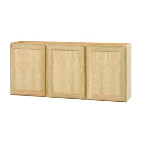Unfinished Oak Kitchen Cabinets Home Depot | 54x24x12 in wall cabinet in unfinished oak w5424ohd the