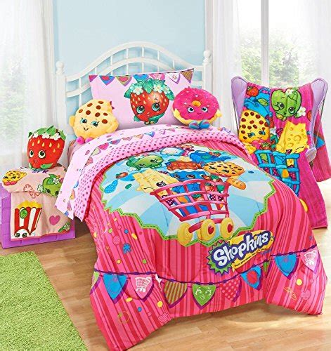 Toddler Bed In A Bag Sets Shopkins 5 Bed In A Bag Size Bedding Set Reversible Comforter Microfiber