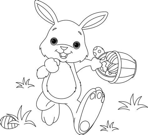 spring bunny coloring page disegni da colorare il coniglietto di pasqua cento per