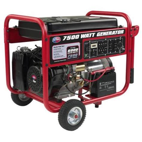 all power 7 500 watt gasoline powered portable generator