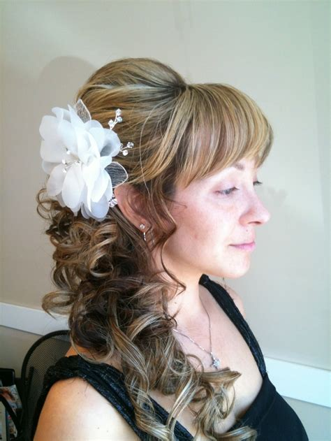 Wedding Hair Updos Side Ponytail by Curl Side Ponytail Updo Wedding