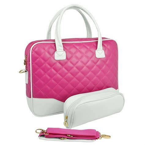 laptop sleeve carrying case bags  pink quilted