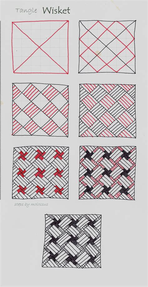 zentangle basket pattern my tangle pattern quot wisket quot