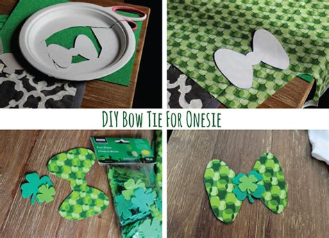 diy st s day bow tie onesie for diy baby boy bow tie no sew diy do it your self