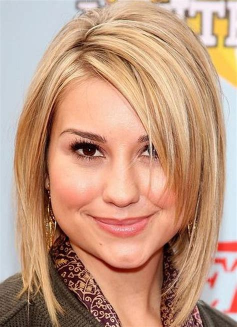 hairstyles for a round face and double chin haircuts for round faces and double chins photo gallery