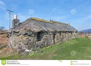 House Plans For Mansions Traditional Scottish Thatched Croft House Stock Photo