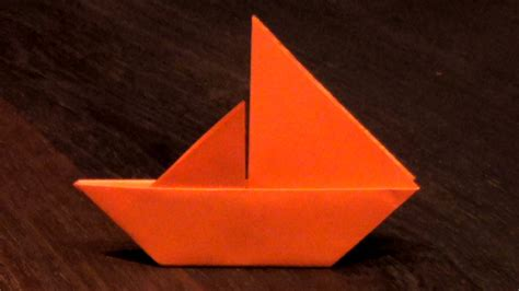 Origami Boat Canoe - origami sail boat tutorial how to make an origami sail