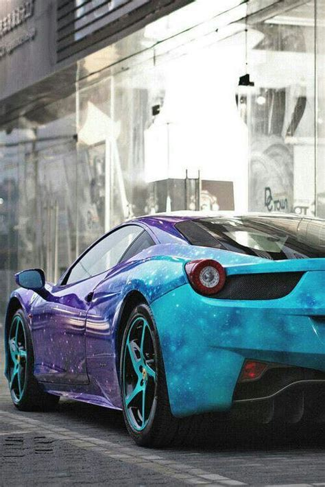 blue galaxy car ferrari with cool galaxy paint job cool vehicles
