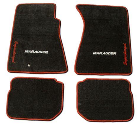 Mats Mercury car motorsports mercury marauder floor mats