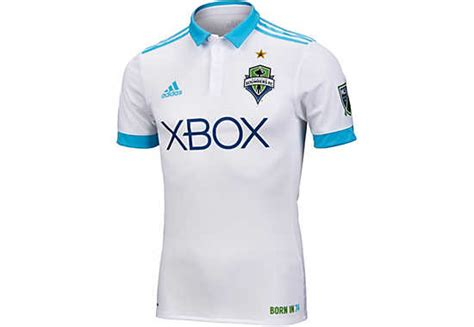Jersey Seattle Sounders Away 20162017 Official 2017 18 adidas seattle sounders authentic away jersey