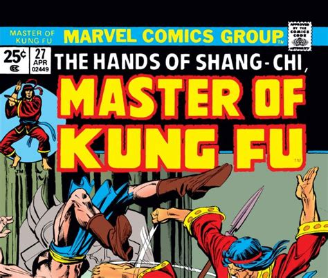 libro shang chi master of kung fu master of kung fu 1974 27 comics marvel com