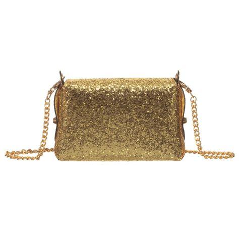 glitter shoulder bag zaccone gold glitter shoulder bag 14cm