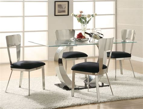 oval rug rectangular table quot eris quot contemporary rectangular glass top table chairs