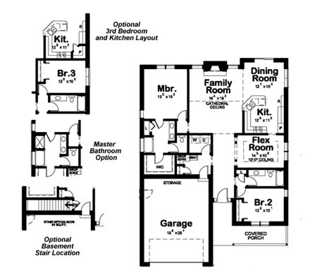 house plan 1761 square feet 57 ft ranch style house plan 2 beds 2 baths 1761 sq ft plan