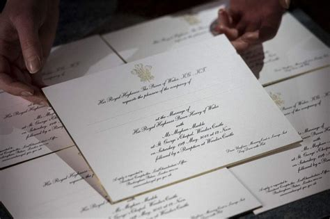 Meghan Markle Wedding Invitation prince harry and meghan markle sent out wedding