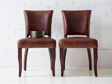 Retro Leather Dining Chairs Still Got Legs European Ceo