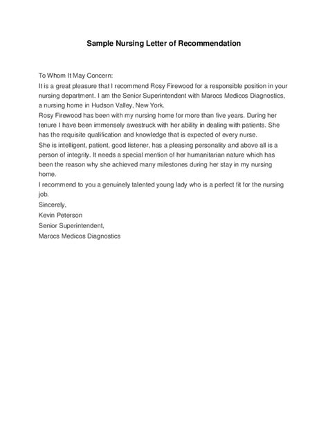 Reference Letter Template Nursing Student reference letter for nursing student from preceptor