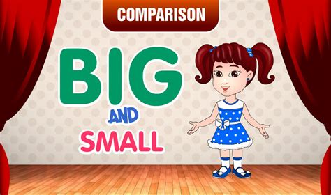 More And Less Lit by Big And Small Comparison For Learn Pre School