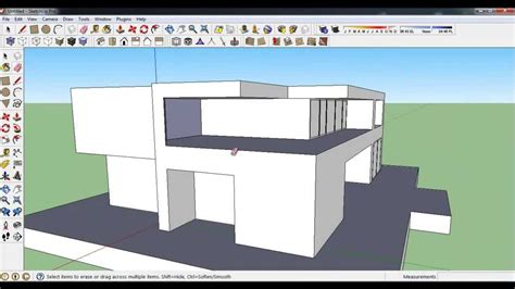 how to design a house in sketchup how to make modern house in google sketchup youtube