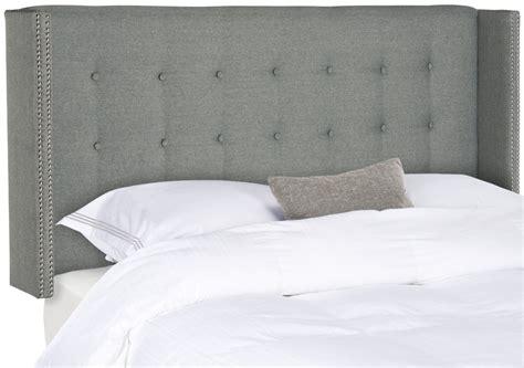 Silver Tufted Headboard by Keegan Grey Linen Tufted Winged Headboard Silver Nail Headboards Furniture By Safavieh