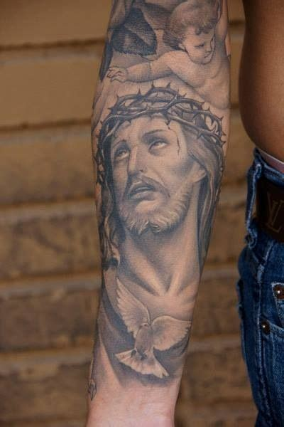 tattoo jesus forearm jesus tattoo tatted pinterest