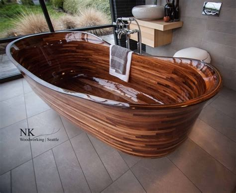 custom made bathtubs wooden bathtubs for modern interior design and luxury