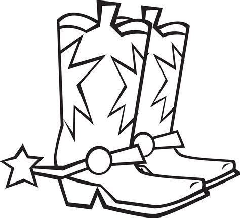 Cowboy Boots Coloring Pages Images Colection 21997 And Boots Coloring Pages