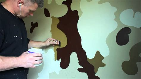 Boys Bedroom Paint Ideas by Boys Bedroom Ideas Army Military Camouflage Room Youtube
