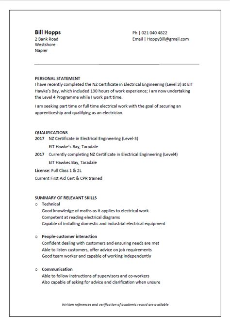 skills cv exle nz cv formats and exles