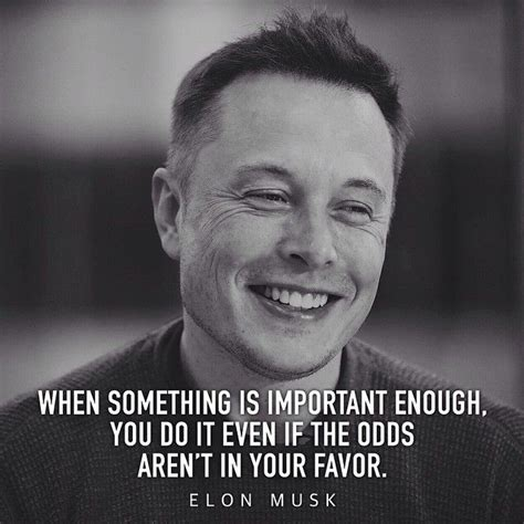 elon musk motivation when something is important enough you do it even if the