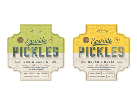 kilhaney s pickle label design on behance 1000 images about oh yes please design on pinterest
