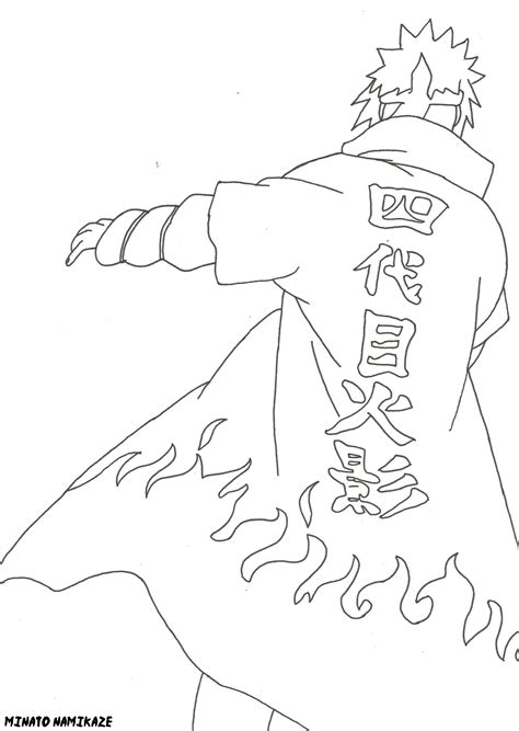 minato coloring pages