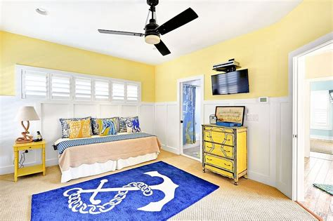 yellow and blue bedrooms nautical kids bedroom in blue yellow and white decoist