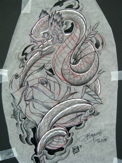 snake skull tattoo designs snake and skull agian by sunofkyuss on deviantart