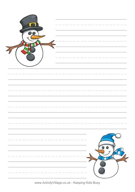 winter writing paper winter writing paper activity auto design tech