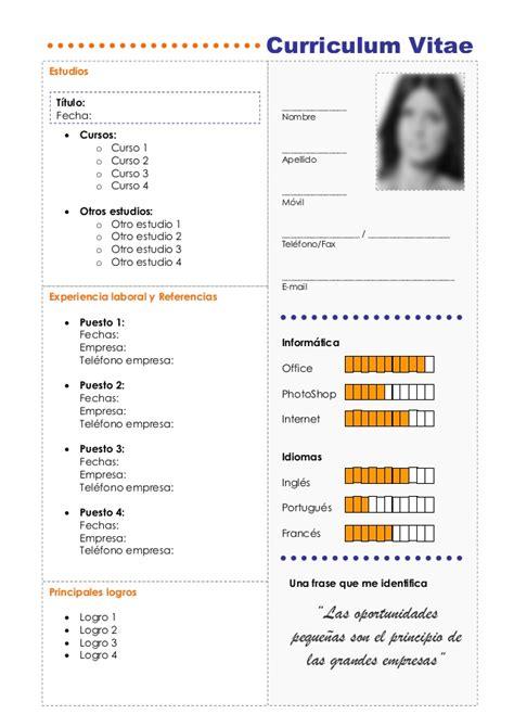 Plantilla Vacia De Curriculum Vitae Plantilla Premium Para Curriculum Vitae Web