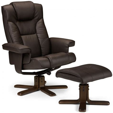 Julian Bowen Malmo Brown Faux Leather Swivel And Recliner