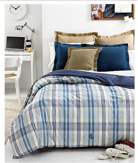 down comforter ralph lauren ralph lauren sundeck blue plaid down alternative comforter