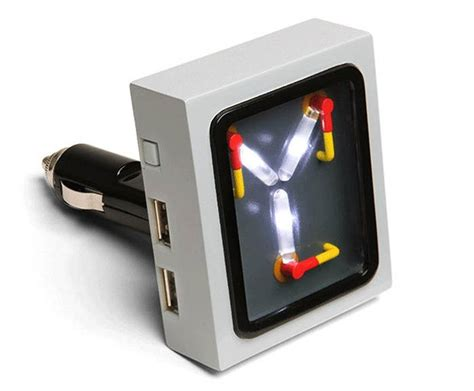 flux capacitor gadget flux capacitor usb car charger boing boing