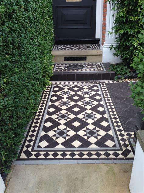 Garden Tiles Ideas And Edwardian Mosaic Tile Path Garden Design