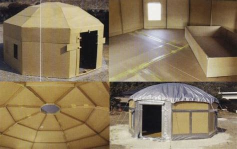 cardboard box house designs cardboard homes make swanky earthquake emergency shelters designbuzz