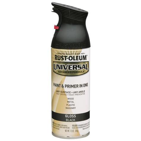 shop rust oleum universal black rust resistant enamel spray paint actual net contents 12 oz