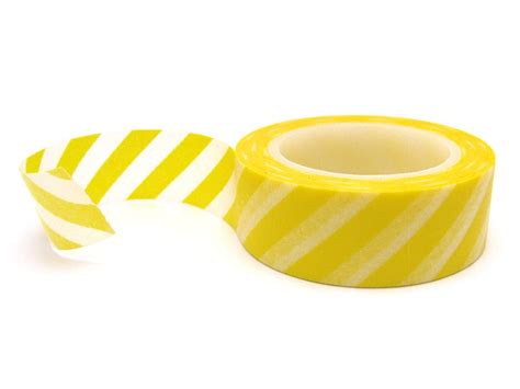 australian pattern tape yellow stripe washi tape yellow washi tape roll
