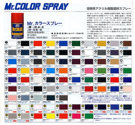 Sale Mr Color 334 mr color spray color chart hton roads scale modelers