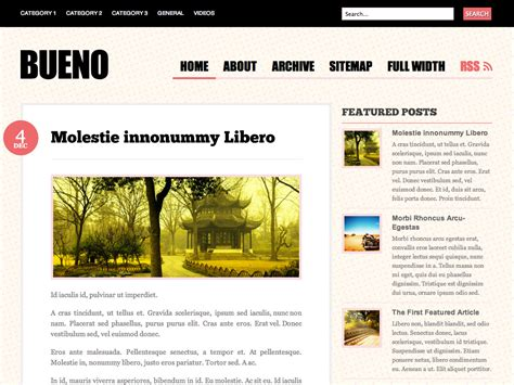 bueno wordpress theme wp archive wp archive